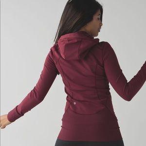 Lululemon Athletica daily practice jacket wine